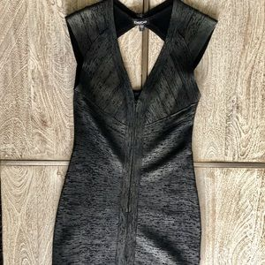BEBE Bodycon Gunmetal Dress